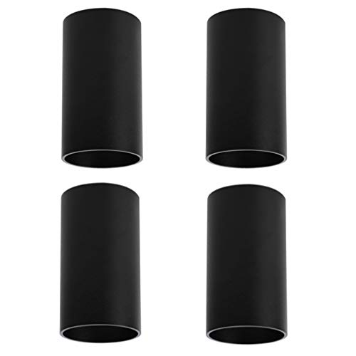 Klighten 4 Pcs Foco de Techo Negro GU10, Focos superficie de Aluminio Plafón Focos Redonda Moderna Lampara Focos Techo para Pasillo, Comedor, salón, 56 X 100 mm, Bombilla no Incluida