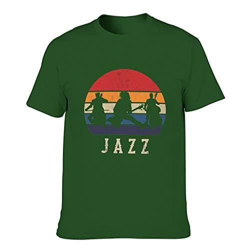 FFanClassic Camiseta de algodón para hombre Jazz Cool Funny Skin-Friendly - Patrón de camisa