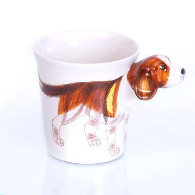 b2see 3D Beagle/Hund-e Tasse 3D/Becher lustig/Keramik Beagle/Hund-e Deko-Figur/Geschenk