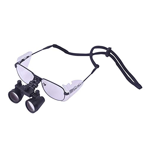 HUIGE Headset Magnifying Glasses 3.5X Dental Surgical Binocular 2.5X Optical Loupes for Dentist Suitable for Otolaryngology Examination Magnifier,2.5X L(380~430mm)