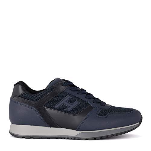 Hogan Sneaker H321 Blu in Pelle Tessuto E Suede, Taglia UK: 9