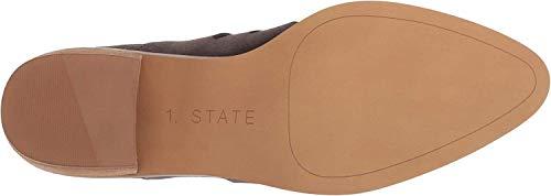 1.STATE Womens Ilee Leather Pointed Toe Platform, Shell Portogallo, Size 6.0