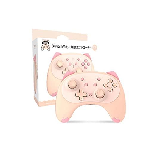Switch Pro Controller para Nintendo Switch/Switch Lite, Cute Cartoon Kitten Controle sem fio Gamepad Joystick com suporte para Voice Wake Up com plugue de fone de ouvido