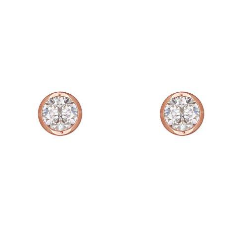 XENOX Ohrringe XS7028R Damen Ohrstecker Silver Circle rosé Sterling-Silber 925 Rose weiß Zirkonia
