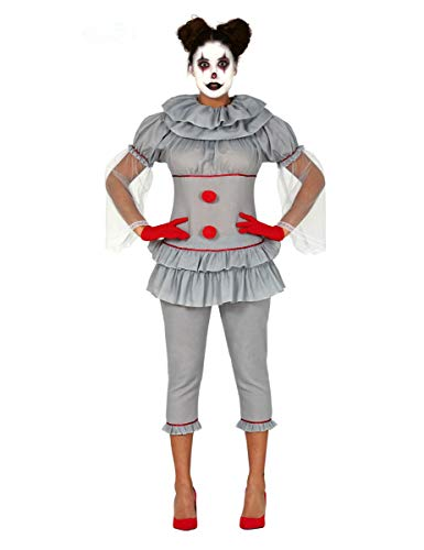 Generique - Disfraz Payaso psicópata pantalón Mujer - M