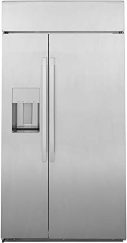 GE Profile PSB48YSNSS 48 Inch Smart Built In Counter Depth Side by Side fridge with 28.69 cu.ft.Capacity,Wi-Fi Enabled,4 Glass Shelves,External Water Dispenser,Ice Maker in Stainless Steel