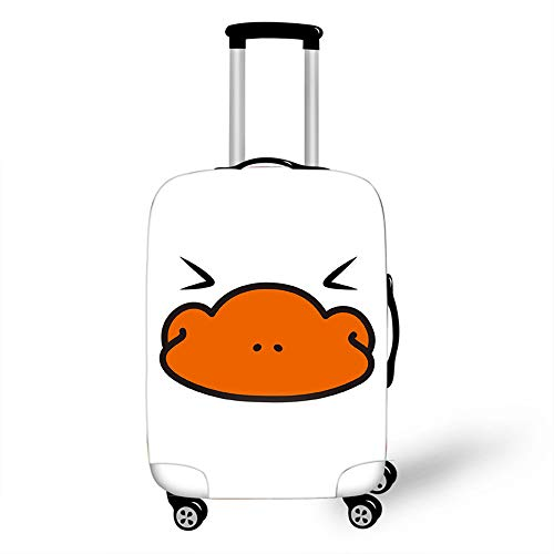Elastic Luggage Cover, CNNINHAO 3D Print Trolley Case Protective Travel Suitcase Anti Scratch Dustproof Resistant Case Trolley Skin Protector Elasticized Washable (Platypus 4,XL (30-32inch))