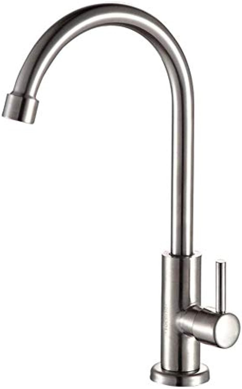 360 ° drehbarer Wasserhahn Retro Wasserhahn gebürstet Nickel Küchenarmatur einzigen kalten Wasserhahn Spülbecken Wasserhahn