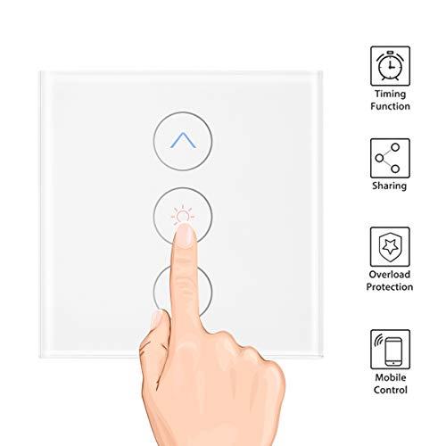 OurLeeme Smart Dimmer Interruptor de luz, Control táctil WiFi Control Remoto de Control por Voz Interruptor Compatible con Alexa Google Assistant IFTTT (se Requiere Cable Neutro)