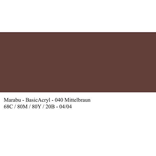 Marabu Basic Acryl, Mittelbraun 040, 80 ml