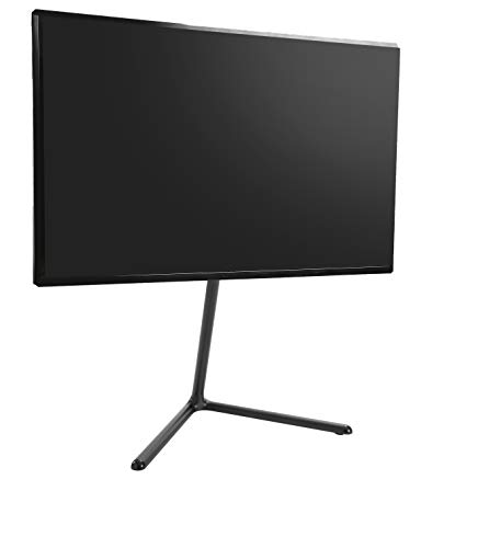 ynVISION Modern Easel TV Stand & Mount with Adjustable Viewing Angle 49-70 inch (Black)