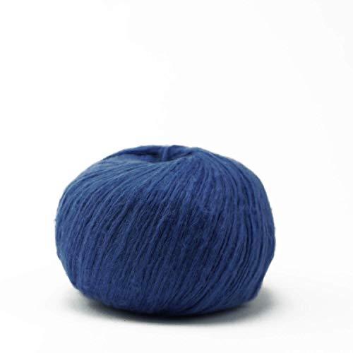 Pascuali Strickwolle 'Suave', Vegan und für Wollallergiker, 162 m/25g, Wolle Blau 78