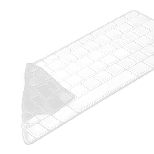kwmobile Tastaturschutz kompatibel mit Apple MacBook Air 13\'\'/ Pro Retina 13\'\'/ 15\'\' (bis Mitte 2016) - QWERTZ Silikon Laptop Abdeckung Transparent