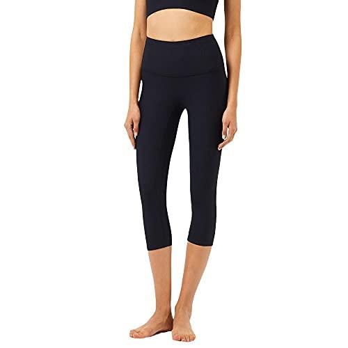 Nude - Pantalones de yoga para mujer de cintura alta, para levantamiento de caderas, deportivos, fitness, Negro , M