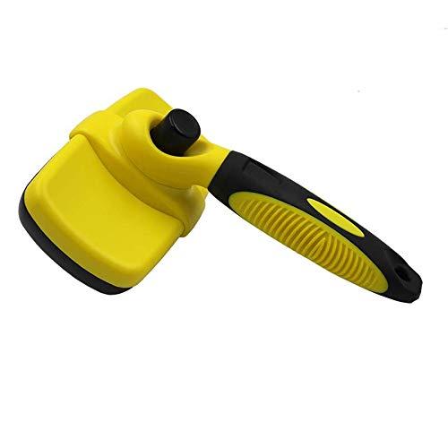 ZXLLAFT Reinigung Slicker Brush Shedding Pflegewerkzeug für Hunde Katze und Haustiere Shedding Pflegewerkzeuge für Hunde und Katzen mit mittlerem bis langem Haar,Gelb