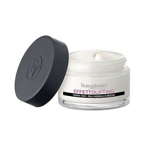 Bottega Verde - Crema viso antieta, effetto lifting immediato* - con acido Ialuronico ed estratto di Fior di Loto (50 ml) - pelli normali o secche
