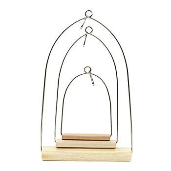 Balacoo Pied de Cage à Oiseaux Portable en Bois pour Perroquet Taille S