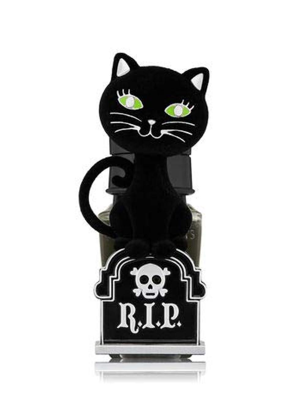 ご注意代名詞戸棚【Bath&Body Works/バス&ボディワークス】 ルームフレグランス プラグインスターター (本体のみ) ハロウィン 黒猫 ナイトライト Wallflowers Fragrance Plug Halloween Tombstone Kitty Night Light [並行輸入品]