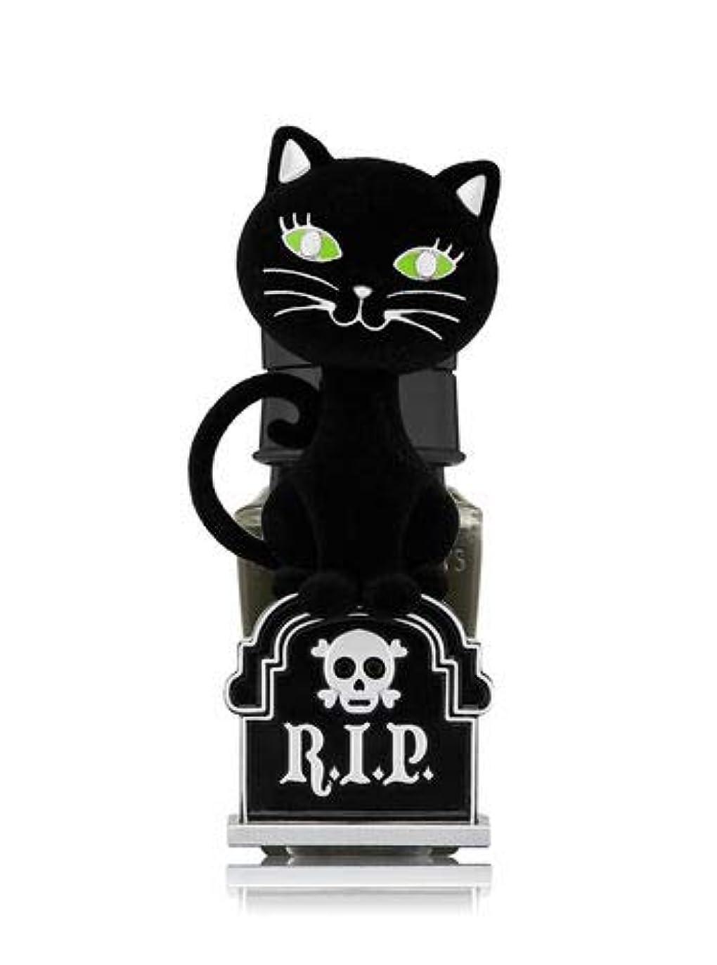 幸運間に合わせあざ【Bath&Body Works/バス&ボディワークス】 ルームフレグランス プラグインスターター (本体のみ) ハロウィン 黒猫 ナイトライト Wallflowers Fragrance Plug Halloween Tombstone Kitty Night Light [並行輸入品]