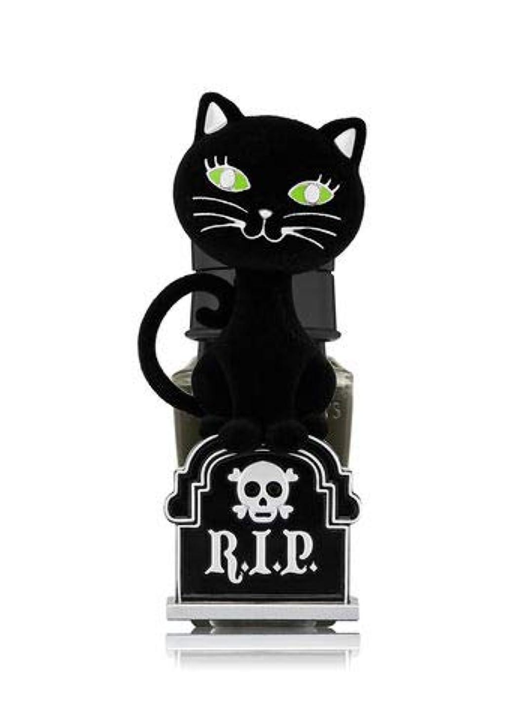 学習誕生日窓を洗う【Bath&Body Works/バス&ボディワークス】 ルームフレグランス プラグインスターター (本体のみ) ハロウィン 黒猫 ナイトライト Wallflowers Fragrance Plug Halloween Tombstone Kitty Night Light [並行輸入品]