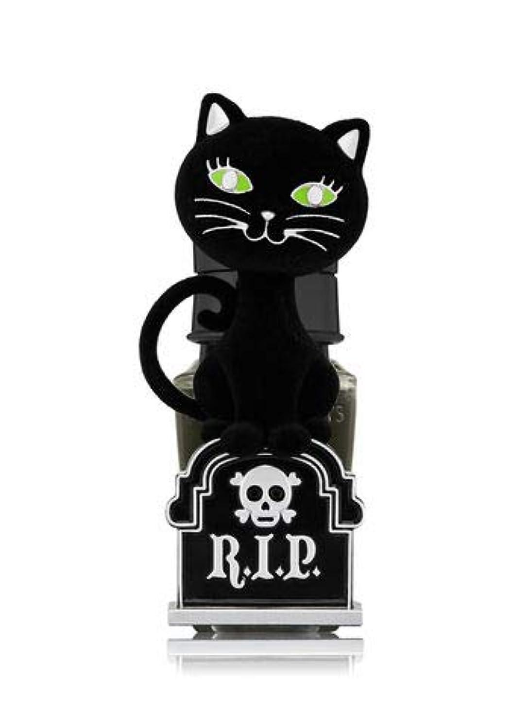 警戒滅多マサッチョ【Bath&Body Works/バス&ボディワークス】 ルームフレグランス プラグインスターター (本体のみ) ハロウィン 黒猫 ナイトライト Wallflowers Fragrance Plug Halloween Tombstone Kitty Night Light [並行輸入品]