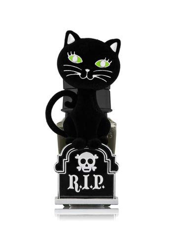 モナリザピンク荒野【Bath&Body Works/バス&ボディワークス】 ルームフレグランス プラグインスターター (本体のみ) ハロウィン 黒猫 ナイトライト Wallflowers Fragrance Plug Halloween Tombstone Kitty Night Light [並行輸入品]