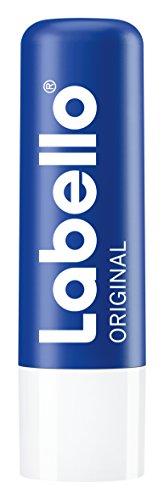 Labello Lot de 6 baumes à lèvres originaux (6 x 4,8 g) - Pour des lèvres naturellement belles - Sans huiles minérales - Protège contre le dessèchement.