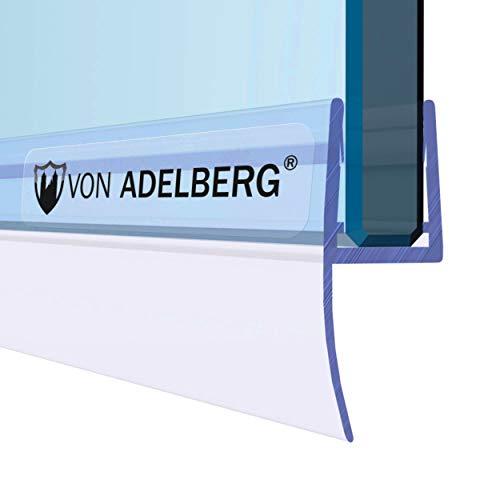 VON ADELBERG Duschdichtung Wasserabweiser Gerade PVC Ersatzdichtung für Dusche Typ: VA033 - Länge: 40 bis 200 cm - Glasstärke: 5, 6, 7, 8, 9, 10, 11, 12 mm, Länge:40 cm, Glas:6 mm / 7 mm / 8 mm