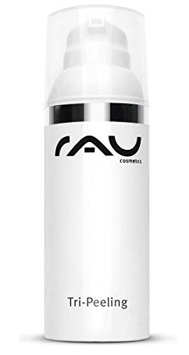 RAU Cosmetics Peeling Gesicht Enzympeeling & Fruchtsäurepeeling Tri-Peeling 50 ml - Gesichtspeeling mit Papaya & Weißer Tee - Anti-Aging, Tiefenreinigung, Anti-Pickel -...