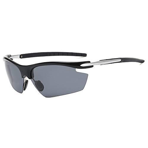 NSGJUYT Montar un Ciclo los vidrios polarizados MTB Gafas de Sol al Aire Libre de la Bicicleta UV400 de la Bici del Camino de Bicicletas de montaña Eyewears (Color : Black Gray)