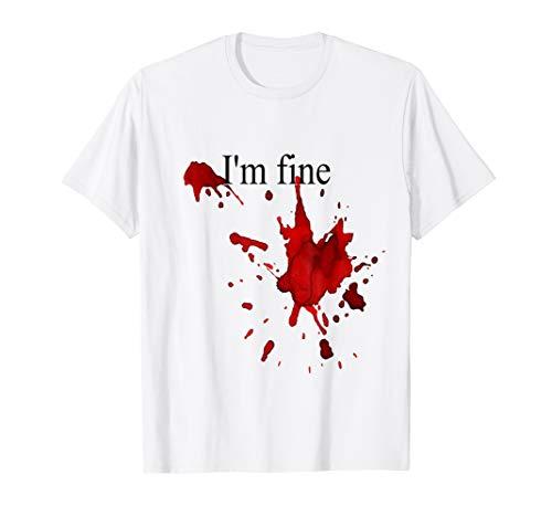 Lustiges Halloween Im Feines Blut Plätschert Blutiges Kostüm T Shirt