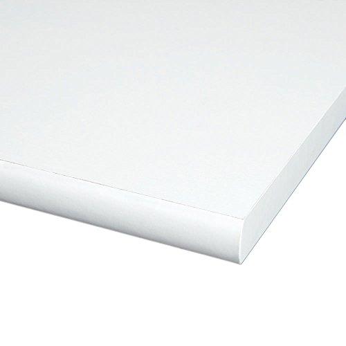 Möbelbauplatte Regalbrett Weiß 1200 x 600 x 19 mm, 4 Seiten umleimt