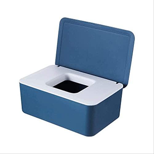 MYGZFF Limpiar Papel Desktop Desktop Sellado Bebé Limpiar Papel Caja de Almacenamiento Dispensador Inicio Caja de Polvo de plástico Caja de Tejido Nuevo Gris (Color : Blue, Size : 19 * 12 * 7.5cm)