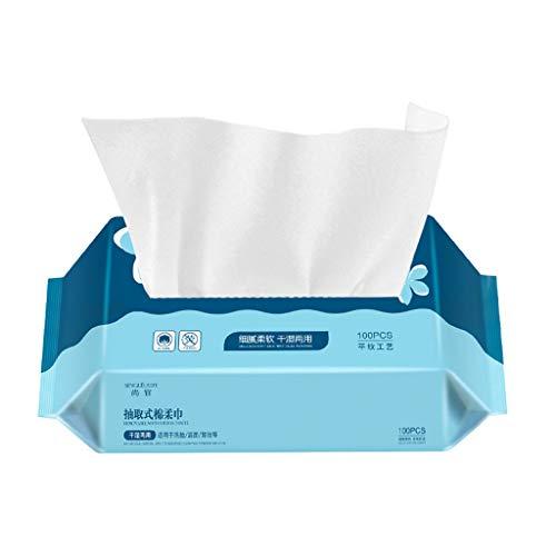 100 Pumped Plain Weave Papierhandtücher Facial Towel Beauty Nass- und Trockenreinigung