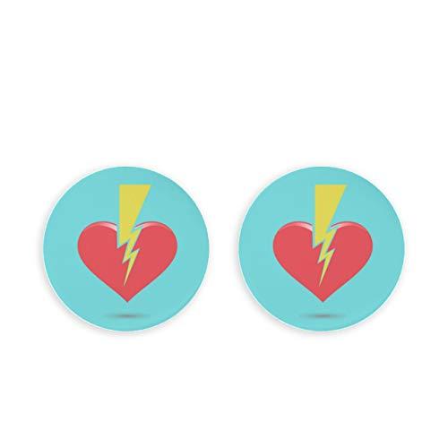 ALALAL Abridor de Tapa de Botella en Forma de corazón de Amor Rojo Triste Roto 2 Piezas Clips magnéticos para Manualidades DIY Cap Science Nevera Abrebotellas Nota Fija