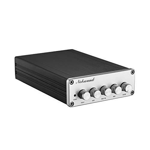 Nobsound HiFi TPA3116D2 - Amplificatore audio digitale 2.1 canali, 2 x 50 W + 100 W Subwoofer Treble Bass