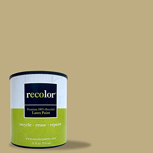 RECOLOR Paint 100% Recycled Interior Latex Paint Wall Finish, 1 Gallon, Interior - Burlap