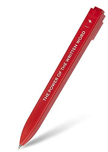 Moleskine Go Pen Ballpoint Pen, 1.0mm Point, Scarlet Red