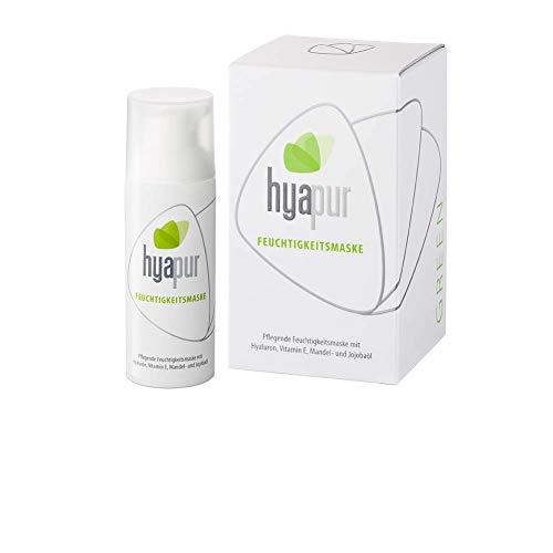 hyapur® - GREEN Feuchtigkeitsmaske 50ml, Die natürliche Maske - zur Anti-Aging-Pflege mit Bio- Vegan- Natur- Kosmetik aus Berlin