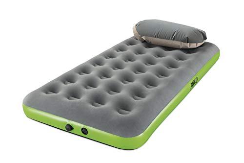 Bestway Pavillo Single Roll&Relax Inflatable Mattress, unisex_adult, green, 188X99X22 cm