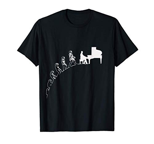 Evolution drôle piano à queue pianiste cadeau instrument de T-Shirt