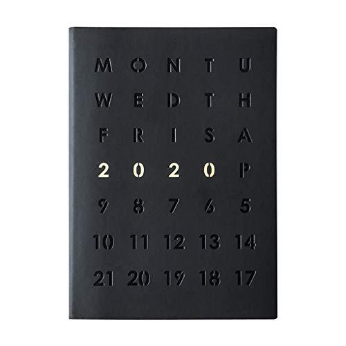 LYLY Cuaderno de agenda 2020, diario de negocios, planificador de notas, cuaderno para regalo de niños, papelería, diario, cuaderno de notas, organizador A5, cuaderno de notas, color negro