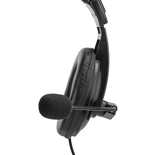 SONK Auriculares para Colocar sobre la Oreja PTT Portátil con cancelación de Ruido con Altavoz de micrófono para Kenwood TK-3107 para Quansheng/WOU/TYT para Radio BAOFENG UV-5R