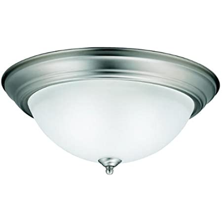 Kichler 8116oz Flush Mount Round Glass Ceiling Lighting Bronze 3 Light 16 W X 7 H 180 Watts Home Improvement