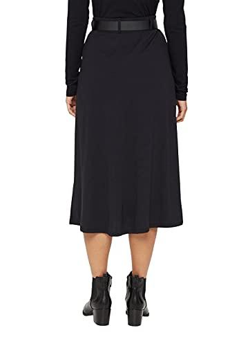 ESPRIT Collection 071EO1D301 Falda, 001/negro, S para Mujer