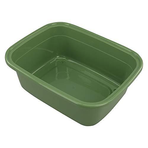 Ordate Dunkelgrün Plastik Becken Abwaschschüssel Spülwanne Spülschüssel Becken aus Kunststoff Groß, Rechteckig, 42.5cm x 33.1cm x 14.5cm, 1 Packung