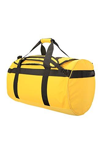 Mountain Warehouse Cargo-Tasche – 90-Liter-Rucksack, 3 Möglichkeiten zum Tragen, 1 großes Fach mit Reißverschlus, Seesack mit Tragegriffen – für Reise, Camping, Festival, Frühling Gelb Einheitsgröße