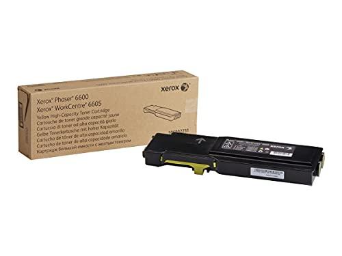 Xerox 106R02231 Cartucho de tóner Amarillo de Alta Capacidad para Phaser 6600/Workcentre 6605