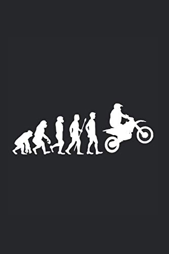 Motocross Lustiges Motocrosser Biker Motorrad Evolution: 6x9 Notizbuch