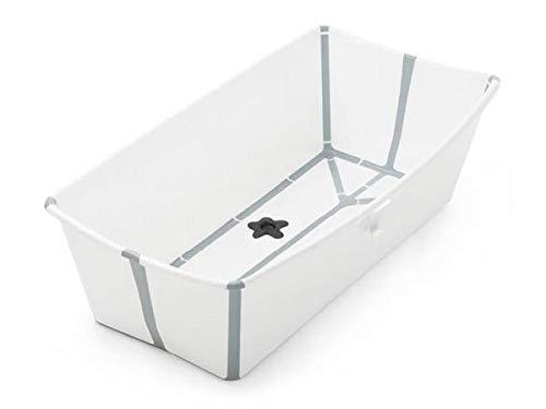 STOKKE® Flexi Bath® XL│Versione grande della vasca da bagno pieghevole per bambini│vaschetta portatile adatta per bambini da 0 mesi fino ai 6 anni│Colore: XL White